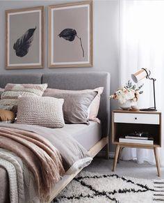 Blush tone bedroom