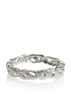 Catherine Angiel Sterling Silver Flower Tribal Band at MYHABIT