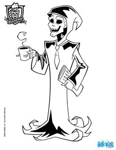 Mr d'Eath coffee coloring page
