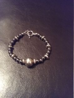 Silver/charcoal by DiannesJewlery on Etsy
