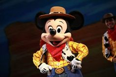 Mickey playing dress up!