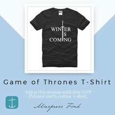 Game of Thrones Printed Men's T-Shirt  sold in #Aliexpress found by #Aliexpertos - Buy Link: http://ift.tt/2xg2RNk - Direct Buy Link: http://ift.tt/2wBkoM1 - Price: $990 USD - Enjoy this season with this cool GOT Printed 100% cotton  t-shirt. - Free Shipping worldwide! - For more products like these please visit link on Bio.  #aliexpress #aliexpressbrasil #aliexpressespaña #aliexpressfashion #aliexpressbr #summeressentials #tshirts  #gameofthrones #gameofthronestshirt #menswear #instafashion…