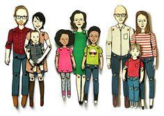 – Personalized Paper Dolls Family Portrait, by Jordan Grace Owns
