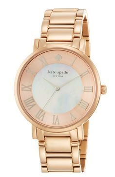 kate spade new york 'gramercy grand' round bracelet watch | this is so perfect for me