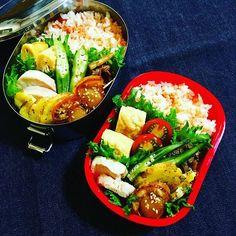 WEBSTA @ naoko_0102 - ちーとおまけ弁当2016.07.25🍱.#牛肉とレンコンの甘辛煮#鳥ハム#じゃがいものチーズ焼き…
