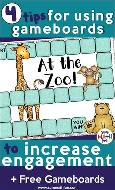 Using game boards increases engagement and learning in the classroom. Strategies for using them with worksheets, printables, and task cards here. First Grade Activities, Math Activities, Preschool Activities, 2nd Grade Math, Second Grade, Fourth Grade, Fun Math, Math Games, Game Boards