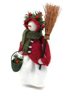 Created as a companion to our clothespin snowman, this Snow Maiden would be an ideal gift for anyone who loves snowmen o Quilted Christmas Ornaments, Handmade Christmas, Christmas Crafts, Handmade Ornaments, Felt Ornaments, Snowman Decorations, Christmas Decorations, Clothes Pin Ornaments, Deco Table Noel