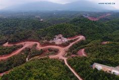 In pics: Ban Somsanook Tunnel of China-Laos railway project - Xinhua Vientiane, Laos, Golf Courses, China, Mountains, Travel, Viajes, Trips, Traveling