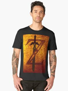 Zelda Sword Men's Premium T-Shirt   • Also buy this artwork on apparel, stickers, phone cases, and more. Zelda Sword Men's Pullover Hoodie   • Also buy this artwork on apparel, stickers, phone cases, and more. #tshirt #premiumtshirt #thelegendofzelda #giftsforhim #giftsforher #redbubble #gaming #gamer #gifts #onlineshopping #shopping #family #kids #style #fashion