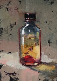 cathleen rehfeld • Daily Painting: Massage Oil Bottle - sold
