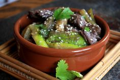 wok de canard aux concombres et miel