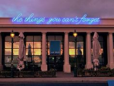 """""""A message to yourself from the past when you believed in different things"""" Powerful introspective neon messages on the urban landscape by Tim Etchells, an artist and a writer based in the UK. Weston Super Mare, Neon Words, Light Quotes, Neon Nights, All Of The Lights, Light Works, Neon Light Signs, Pretty Lights, Bright Lights"""
