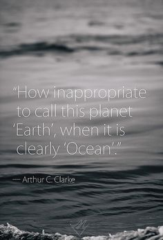 How inappropriate to call this planet 'Earth', when it is clearly 'Ocean'. - Arthur C. Sailing Quotes, Sailing Trips, Planet Earth, Planet Ocean, Some Words, Deep Thoughts, True Stories, Decir No, Science Fiction