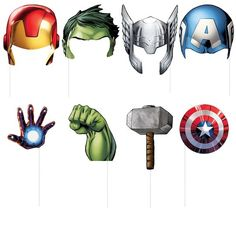 Create superhero photos at an Avengers birthday party with these Avengers Photo Props and other Avengers themed party supplies from Michaels.com.