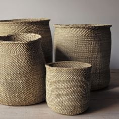 These beautifully handcrafted Tanzanian baskets are woven from milulu grass. As they age, their colour changes form a greenish hue to beige. If needed they can we reshaped with a slight vaporizing .Vintage French Soul ~ natural iringa baskets @ home