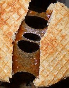 Stroopwafel: cookie like waffle with caramel-like filling