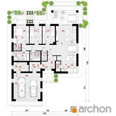 projekt Dom w żonkilach (G2) rzut parteru