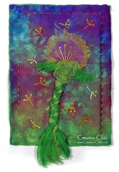 Turning dandelions into fabric art | Linda Matthews: Textile Art & Design