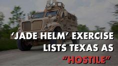 "JUST IN: Jade Helm 15 Military Exercise Lists Texas as ""Hostile"" - http://nnn.is/1N6txQ0"