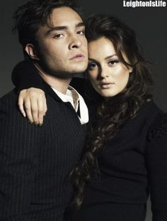Ed Westwick & Leighton Meester -- hmm sexy.. I really wish the last season of GG would come on Netflix already.. I might have to buy these on DVD, I think. These shows that I watch over and over I need to just own lol.