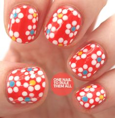 nail art - nail design - One Nail To Rule Them All: simple floral design - beautiful #nailart