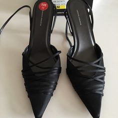 Valerie Stevens black satin heels Only worn a few times--very good condition. Original box included Valerie Stevens Shoes Heels