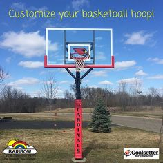 A fun way to show your team pride is by customizing your #Goalsetter #basketballhoop. Everyone on the block will know who you're rooting for!