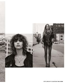 Craig McDean Flashes Jamie, Mica, Karolin & More In Gritty YSL Looks For Vogue Italia July 2017