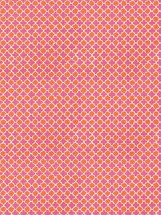 Stroheim quatrefoil fabric: Dana Gibson - Lester Lanin 4702504 - Pink Persimmon. $64.00 #danagibson #quatrefoil #fabric #stroheim This fabric and many more fabrics, trims, and wallpapers are available for the guaranteed lowest price online at Designerfabricsusa.com