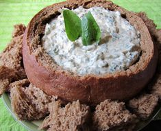 Mennonite Girls Can Cook: Pumpernickel Bread and Spinach Dip Amish Recipes, Banana Bread Recipes, Dip Recipes, Appetizer Recipes, Cooking Recipes, Appetizers, Pumpernickle Bread Recipe, Recipes, Bon Appetit