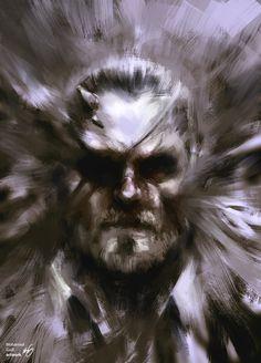 A damn fine artwork of Big Boss circa MGSV:Phantom Pain.