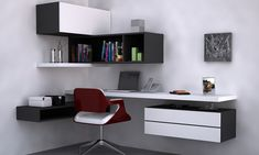 Modern study table design ideas and best home library shelves ideas Modern Home Office Desk, Home Office Table, Home Office Space, Home Office Design, Home Office Decor, Home Design, Home Interior Design, Study Table Designs, Study Room Design