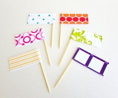 Set of 8 Cupcake Toppers Custom Party by IdAndEgoCelebrations