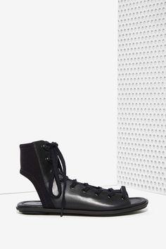 ATELJÉ 71 Fidelio Leather Lace-Up Sandal