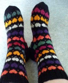 Socks using left over yarns Model By TeeTee. Yarns, Socks, Model, Fashion, Moda, Fashion Styles, Scale Model, Sock