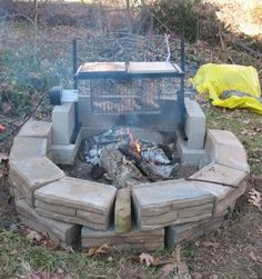 fire pits in the woods | pit cooking over wood embers not directly on wood flames