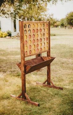 Giant connect four, wedding lawn games Rustic Grace Estate, Van Alstyne, TX Ph. Giant connect four Backyard For Kids, Backyard Projects, Wood Projects, Outdoor Projects, Outdoor Decor, Kids Yard, Kids Woodworking Projects, Outdoor Benches, Backyard Camping
