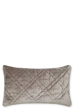 Grey Velvet Diamond Cushion