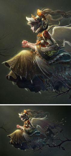 by Elda..........heart fantasy art | Nestlings heart