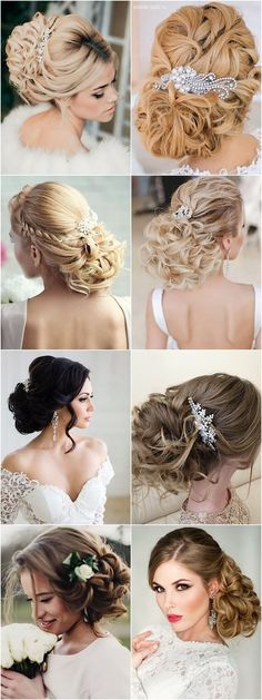 amazing updo wedding hairstyles; see photo credits in the article;:
