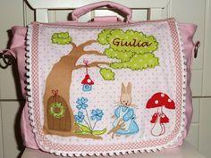 """Kindergartentaschen - Kindergartenrucksack """"Hasenmädchen"""" - ein Designerstück…"""