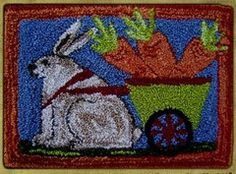 Punchneedle Patterns Plus - Rabbit and Carrot Cart