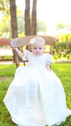 Dupioni Silk, Alencon Lace Christening Gown, Baptism Gown, 0-3 months, 3-6 months, 6-9 months, 9-12 months, 12-18 months, 18-24 months,
