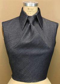 Fabric manipulation | Origami shirt, tie knot but no tie.