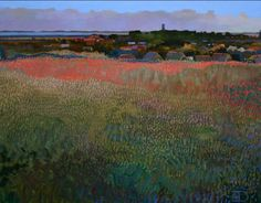 "Ton Dubbeldam  (Holland, b. 1957)  ""Little Village Behind the Dunes"""