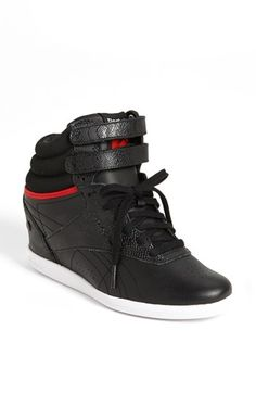 Loving this style!! Reebok 'Freestyle Hi Wedge A. Keys' Sneaker (Women) available at #Nordstrom