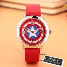 Cheap watch tv remote control, Buy Quality clock paper directly from China watch band sizing tool Suppliers: Captain America Watch Fashion Watches Quartz children Kids Clock boys girls Students Wristwatch Best Kids Watches, Clock For Kids, Watch Cartoons, Captain America Civil War, Valentines Jewelry, Fashion Watches, Children's Watches, Fashion Brand, Boy Or Girl
