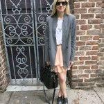 Zara Blazer, Ruffle Skirt, Chloe Boots, Saint Laurent Bag