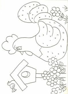 Galinha Applique Templates, Applique Patterns, Applique Designs, Quilt Patterns, Embroidery Designs, Wool Applique, Embroidery Applique, Sewing Crafts, Sewing Projects