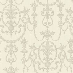 "Found it at Wayfair - Riverside Park Archival 33' x 20.5"" Damask 3D Embossed Wallpaper"